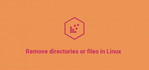 how to remove directories or files in Linux