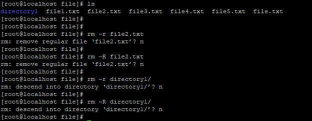 delete file or directory with safely Linux command